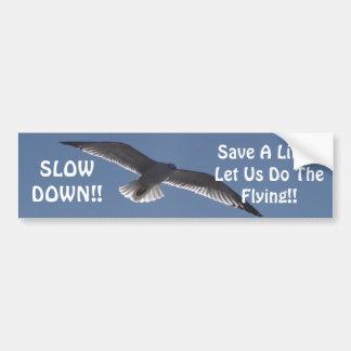 SLOW DOWN!!, Save A Lif... Bumper Sticker