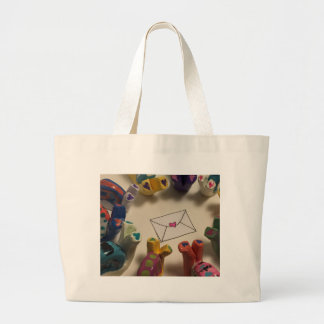 Slow Down Snails Large Tote Bag