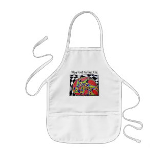 """Slow Food for Fast Kids"", Child Size Apron"