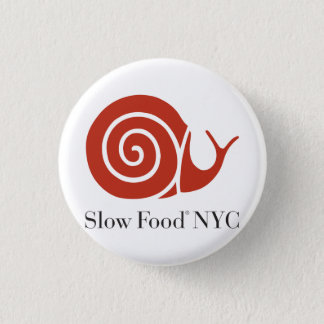 Slow Food NYC logo products 1 Inch Round Button