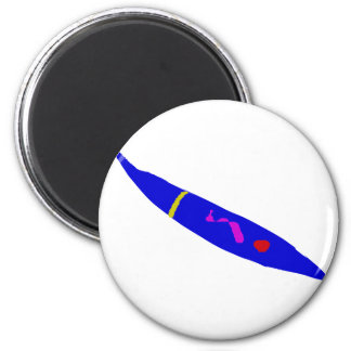 Slow Move Blue Chili 2 Inch Round Magnet