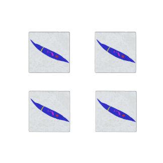 Slow Move Blue Chili Stone Magnets