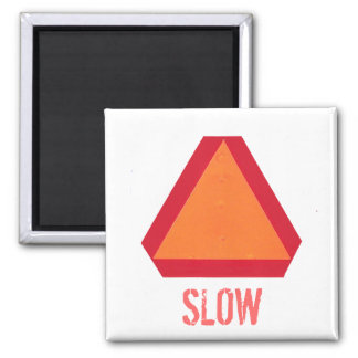 Slow Moving Vehicle Sign Magnet