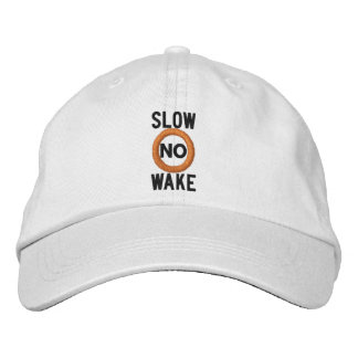 Slow No Wake Nautical Embroidered Embroidered Hat