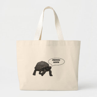 , slow panzer feasted large tote bag