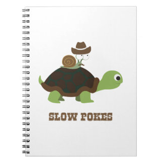 Slow Poke - cowboy snail and turtle Note Books