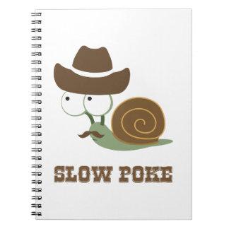 Slow Poke! - Cowboy Snail Spiral Notebooks