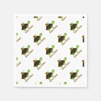 Slow Pokes Cute Turtle and Snail Disposable Napkin