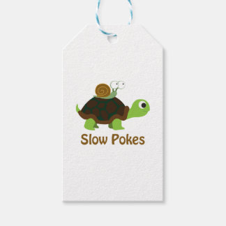 Slow Pokes Cute Turtle and Snail Gift Tags