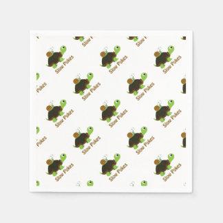 Slow Pokes Cute Turtle and Snail Napkin