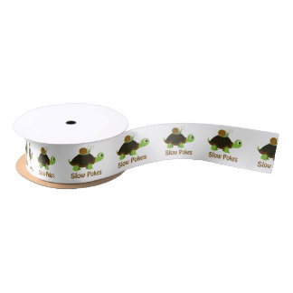 Slow Pokes Cute Turtle and Snail Satin Ribbon