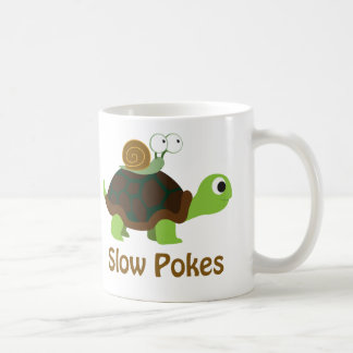 Slow Pokes - Turtle and Snail Coffee Mug