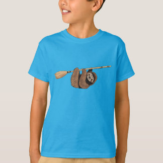 Slow Ride - Sloth on Flying Broom T-Shirt