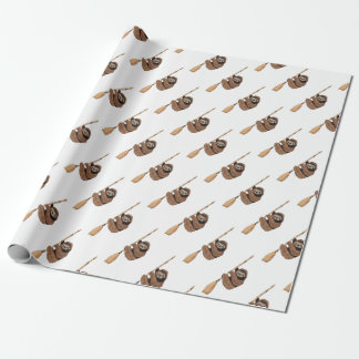 Slow Ride - Sloth on Flying Broom Wrapping Paper