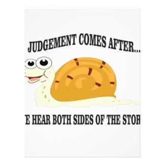 slow to judgement letterhead