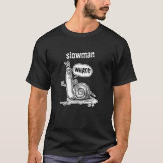 slowman snail cartoon style illustration T-Shirt