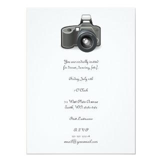 "SLR Camera 6.5"" X 8.75"" Invitation Card"
