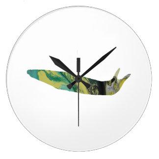 Slug art large clock