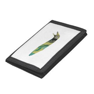 Slug art tri-fold wallet