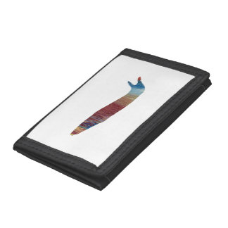 Slug art trifold wallet