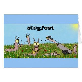 Slugfest Greeting Card