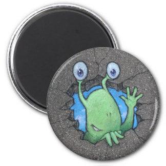 sluggo breaks through 2 inch round magnet
