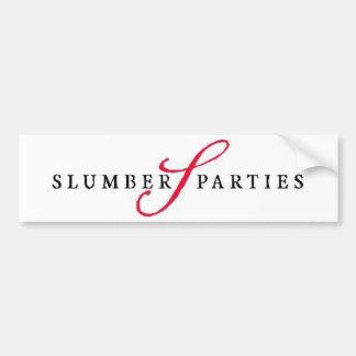 Slumber Parties Logo Promotional Parties Bumper Sticker