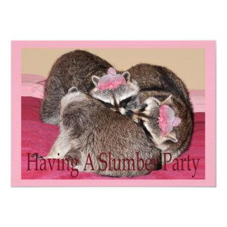 "slumber party card 5"" x 7"" invitation card"