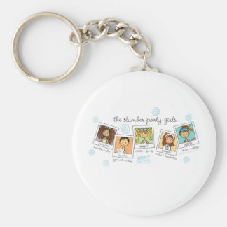 slumber party girls keychain