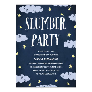 Slumber Party | Illustrated Navy Blue Birthday Card