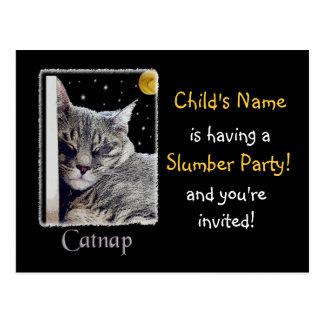 Slumber Party Invitation! Postcard