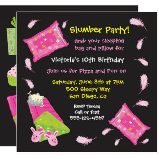 Slumber Party Pillow Fight Invitation