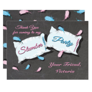 Slumber Party Sleep Over thank you note card