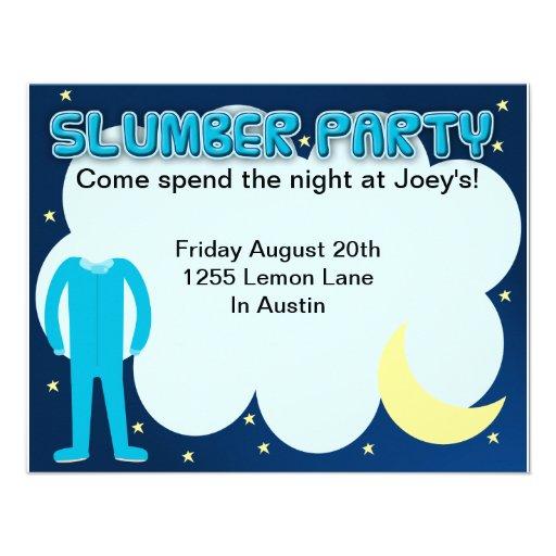 Slumber Party Sleepover Time Invite