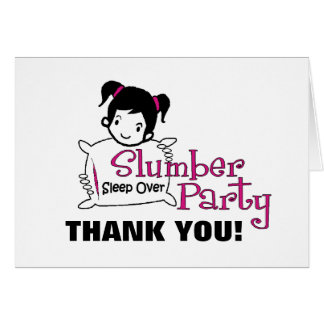 Slumber Party Thank You Card
