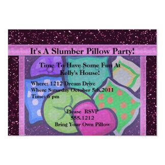 Slumber Pillow Party Card