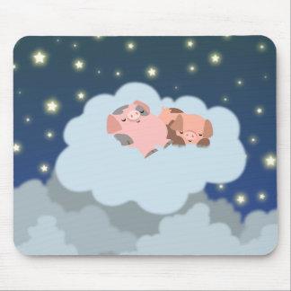 Slumbering Piglets cartoon mousepad