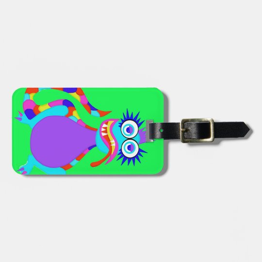 Slurpy Monster Luggage Tag