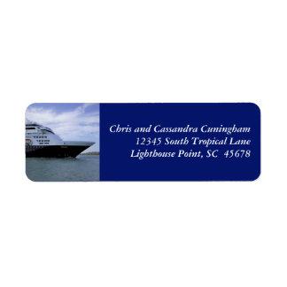 Slwwk Cruise Ship Bow Personalized Return Address Label