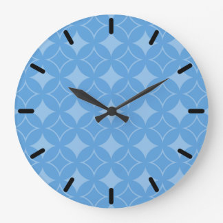 Sly blue shippo pattern clocks