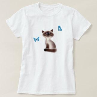 Sly Cat & Butterflies T-Shirt