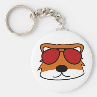 Sly Fox Basic Round Button Keychain