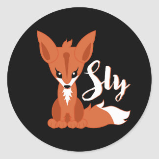 Sly Fox Classic Round Sticker