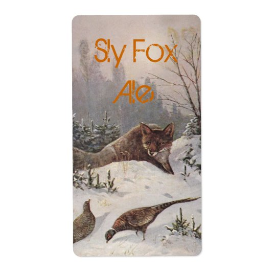 Sly Fox label Homebrewing beer Home bottle-label Shipping Label