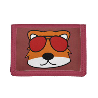 Sly Fox Red Trifold Wallets
