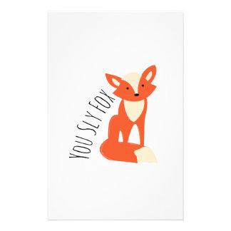 Sly Fox Stationery Design