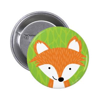 Sly Little Fox- Woodland Friends 2 Inch Round Button