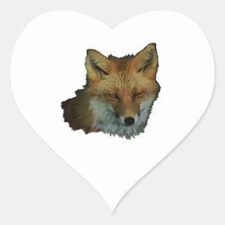 Sly Little One Heart Sticker