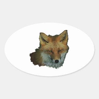 Sly Little One Oval Sticker