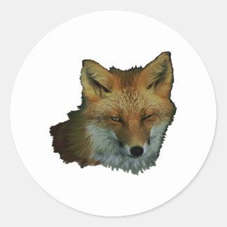 Sly Little One Round Sticker
